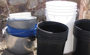 The farm has uses for all types of buckets.