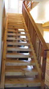 Here is the finished stairway, much better than the one they had up for construction.
