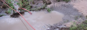 Sand build up would not allow water past our ditch gate.