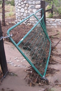 The front gate was warped.