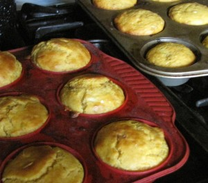 Muffins made with duck eggs - who can tell the difference?