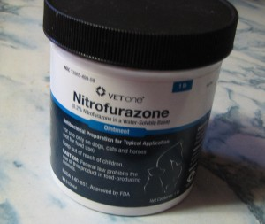 The Nitrofurazone Pledge: I use this on you, I don't get to eat you.