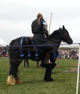 Here is one of the male jousters.