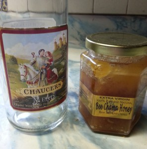 Chaucer's Mead and local Bee Chama Honey.